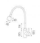 SHC02不鏽鋼水龍頭尺寸圖