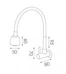 WC01不鏽鋼水龍頭尺寸圖