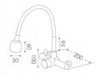 WHC02不鏽鋼水龍頭尺寸圖