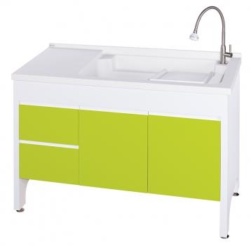 U-5120R活動式洗衣台(大地綠)