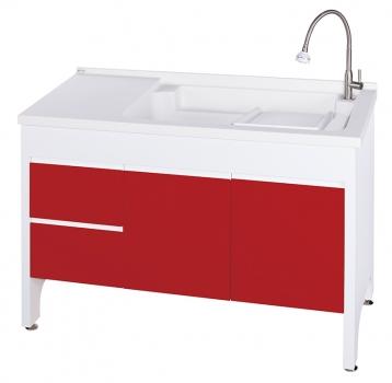 U-5120R活動式洗衣台(中國紅)