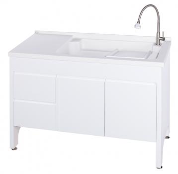 U-5120R活動式洗衣台(純潔白)