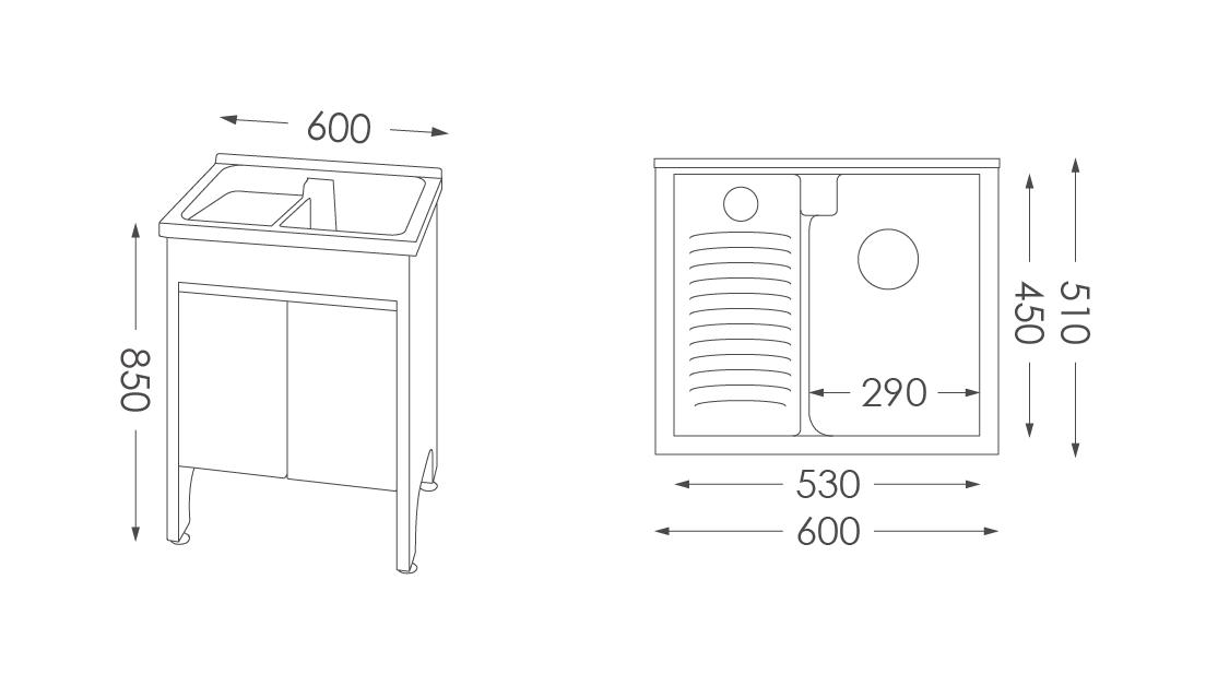 人造石洗衣台U360