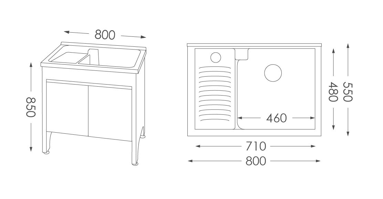 人造石洗衣台U380
