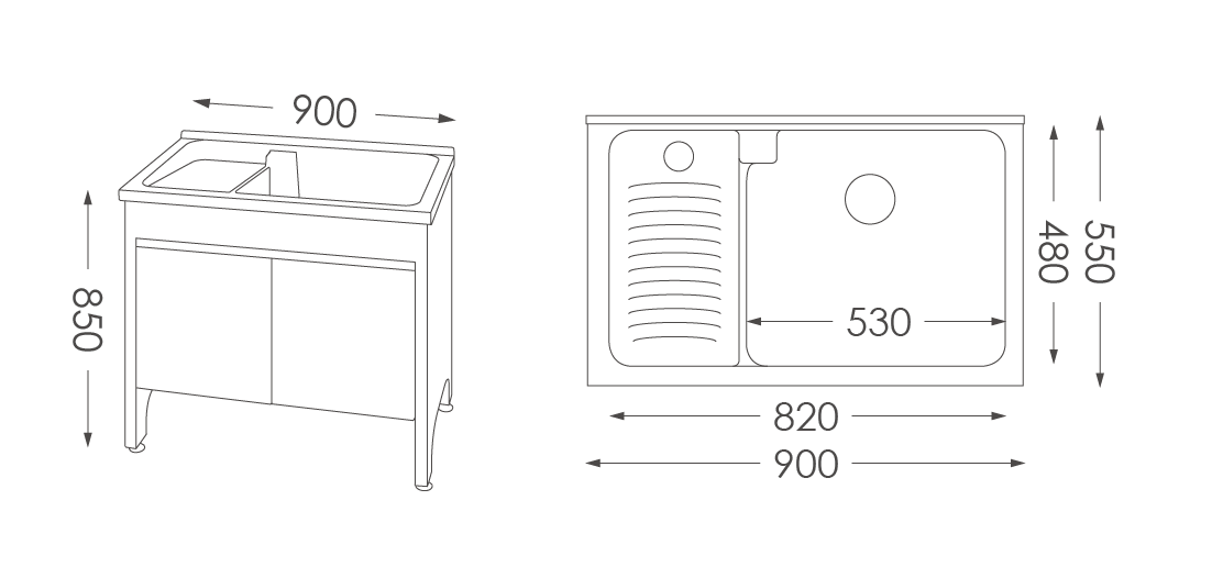 人造石洗衣台U390