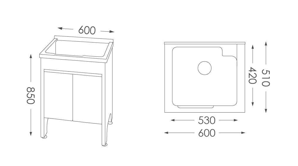 人造石洗衣台U560