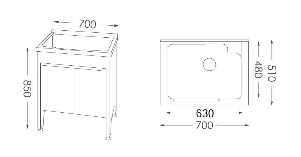 人造石洗衣台U570