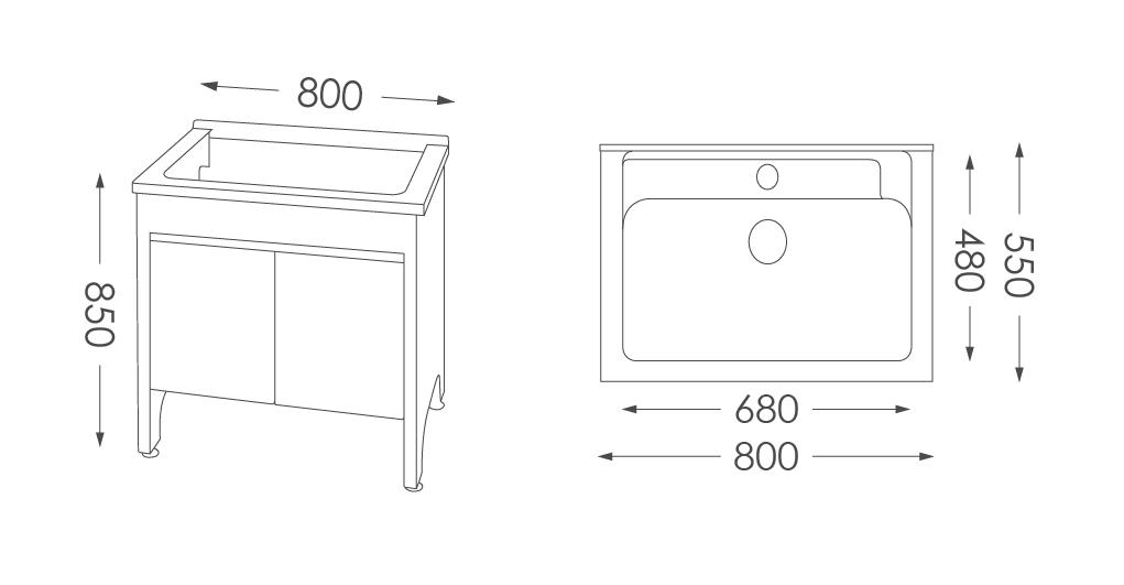 人造石洗衣台U580