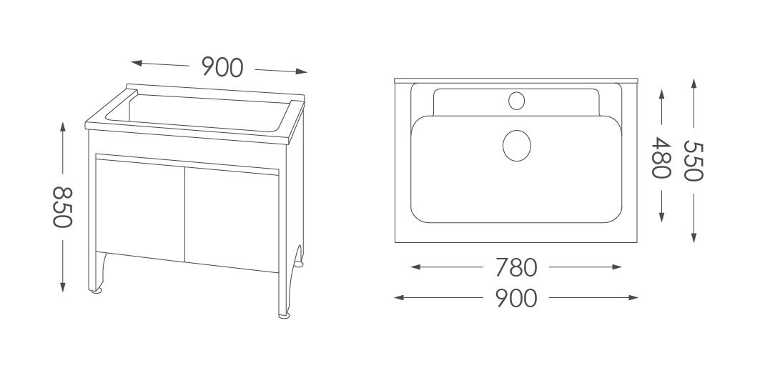 人造石洗衣台U590
