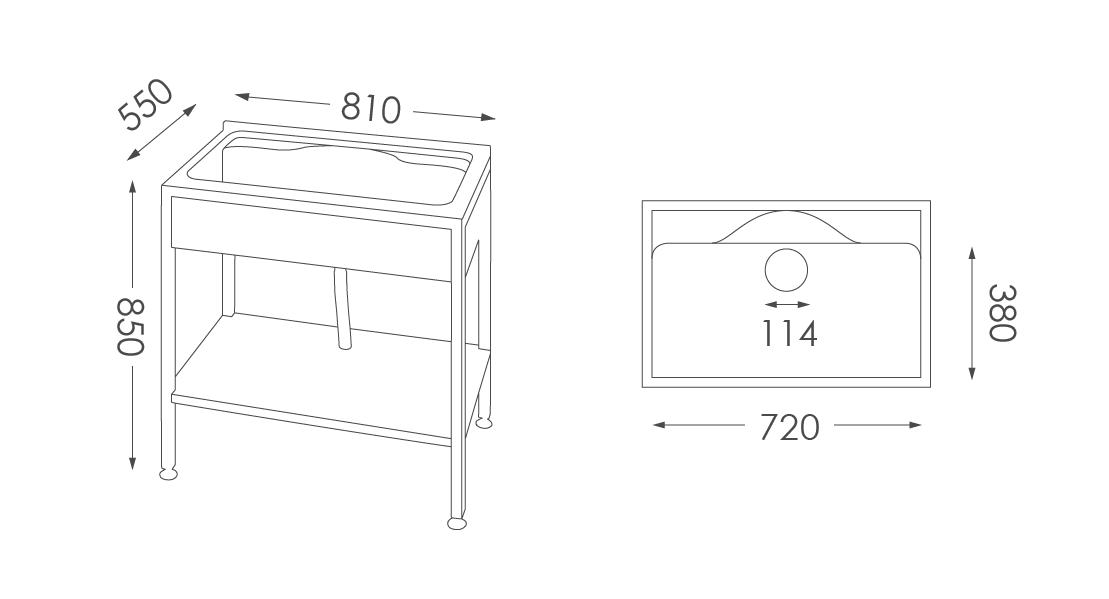 洗衣台ST-205人造石洗衣檯