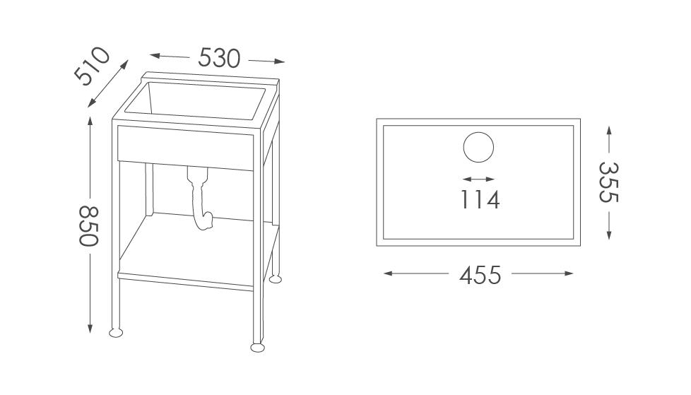 洗衣台ST-206人造石洗衣檯