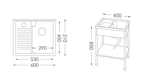 洗衣台ST-360人造石洗衣檯