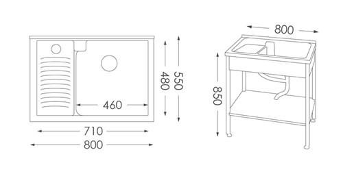 洗衣台ST-380人造石洗衣檯