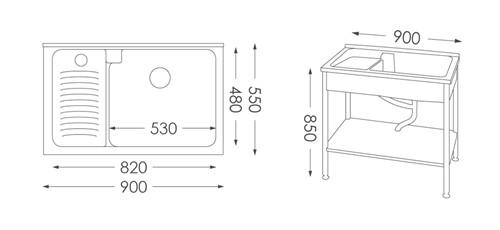洗衣台ST-390人造石洗衣檯