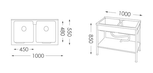 洗衣台ST-5100人造石洗衣檯