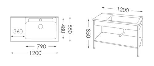 洗衣台ST-5120人造石洗衣檯