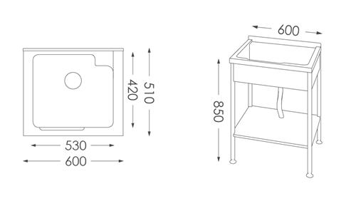 洗衣台ST-550人造石洗衣檯