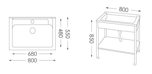 洗衣台ST-580人造石洗衣檯