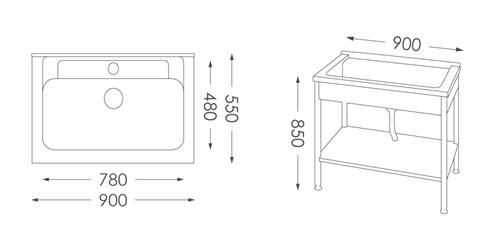 洗衣台ST-590人造石洗衣檯